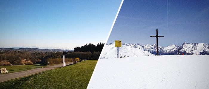 Frühling MTB Ski